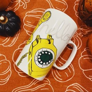 "Starbucks Dining - Starbucks | 2015 ""Hello"" Yellow Telephone Mug"